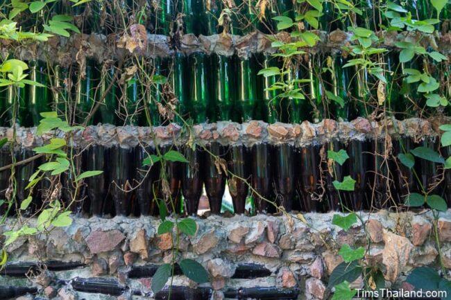 window made of bottles