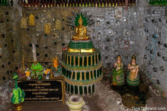 Buddha in main shrine of bottle building