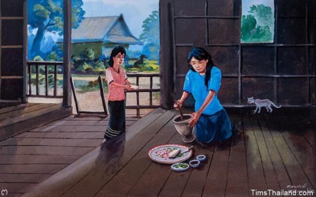 woman making food