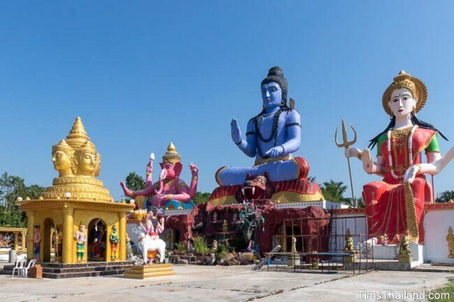 large Hindu god statues